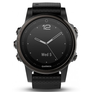 Garmin fenix5S Sapphire Gray Optic Black
