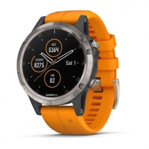 Garmin fenix5 Plus Sap. Titan.,Orange